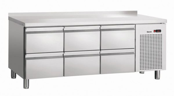 Bartscher Kühltisch S6-150 MA mit Aufkantung 50 mm